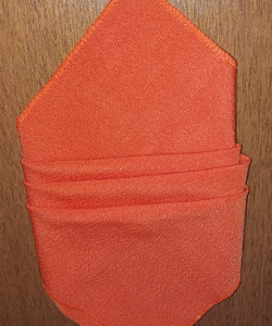 Guardanapo gorgurinho laranja sem bainha