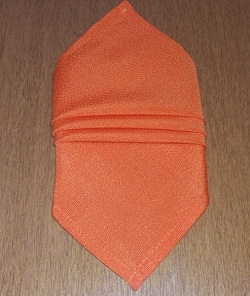 Guardanapo oxford laranja com bainha